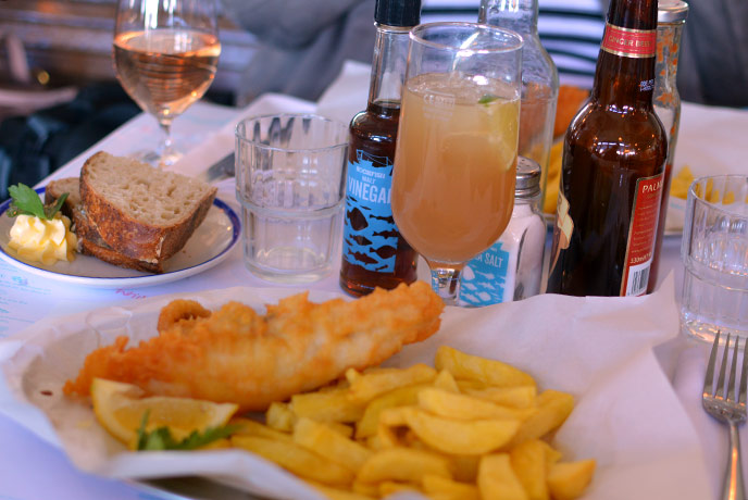 The freshest fish in Devon as the restaurant is above the Brixham fish market.