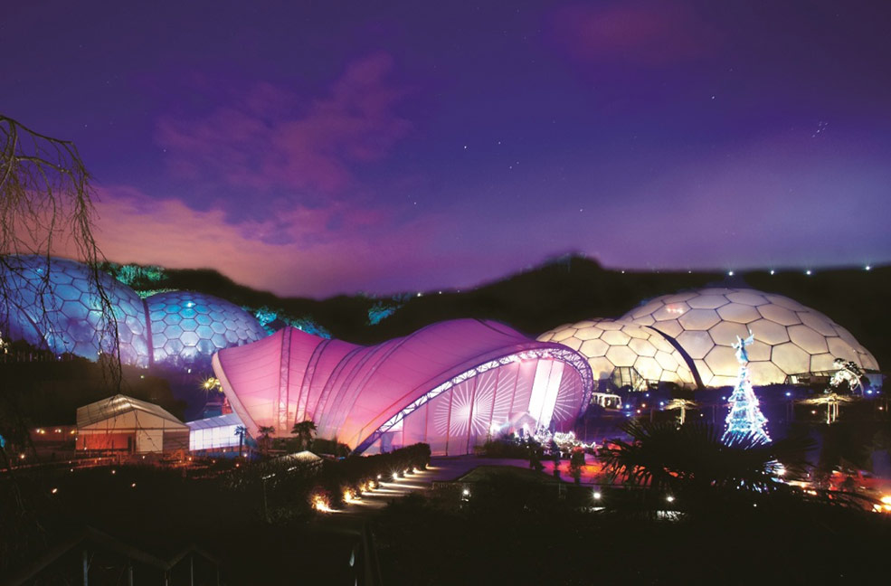 Eden Project Christmas market in Cornwall