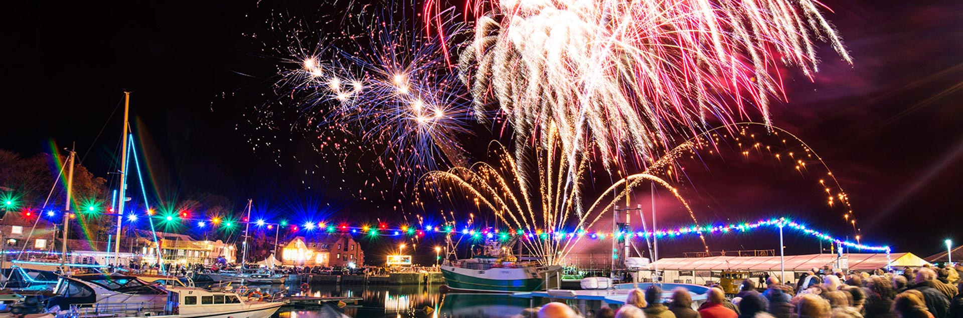 Padstow Christmas festival in Cornwall