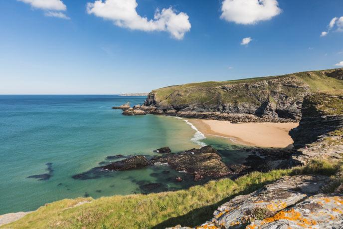 Cornish coast line