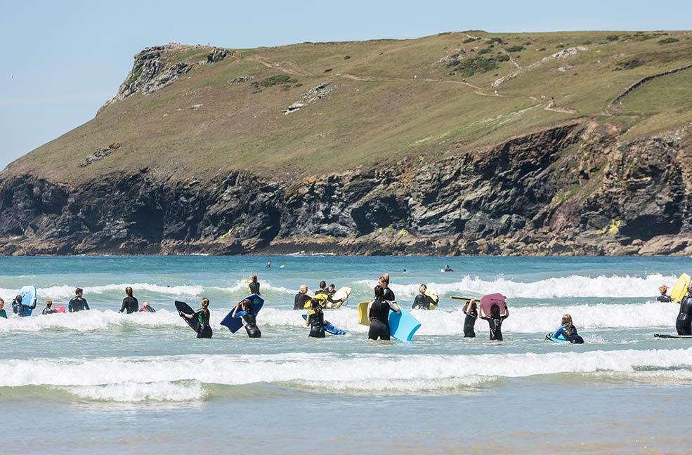 Bodyboarding in the summer is great fun. Why not take the next step and learn how to surf in Cornwall?
