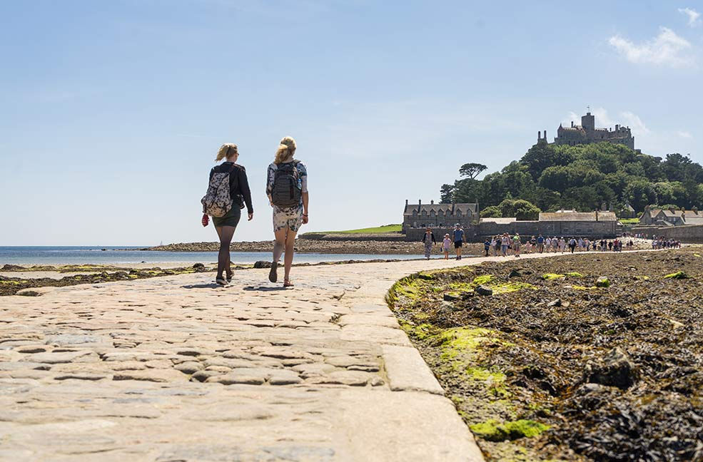 Walking to St Michael's Mount at low tide should be at the top of your bucket list in Cornwall