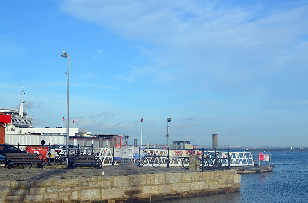 The harbour front in Cowes on the Isle of Wight.