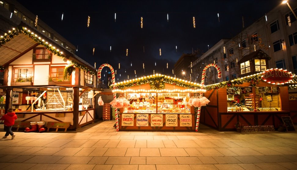 Plymouth Christmas market in Devon