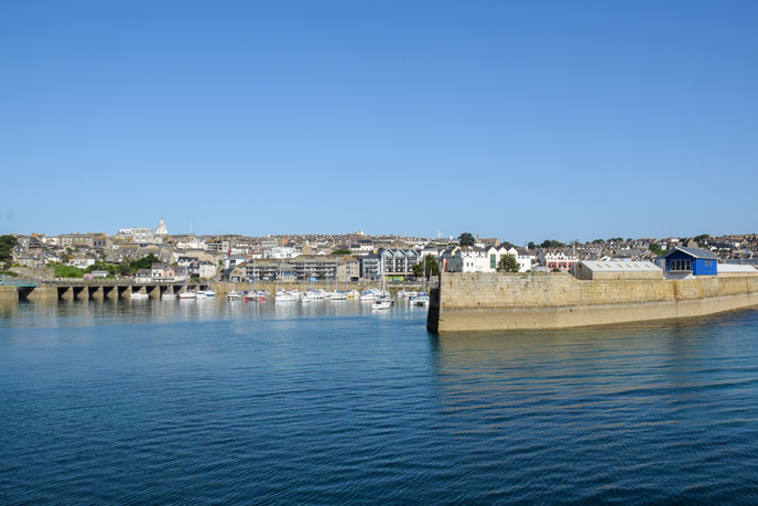 Penzance from the water