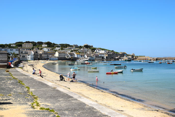Hugh Town on St Mary's, Isles of Scilly