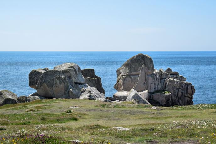 Windswept rocks at Penninis Head