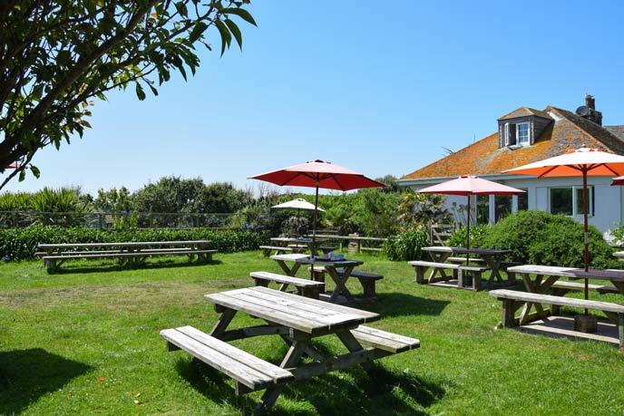Carn Vean tea shop and garden, St Mary's