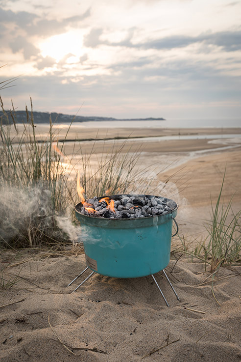 A beach barbecue is the perfect way to round off a long day exploring Devon.
