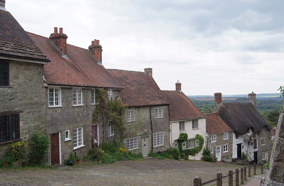 You might recognise Gold Hill in Shaftesbury from a 1970 Hovis bread advert.