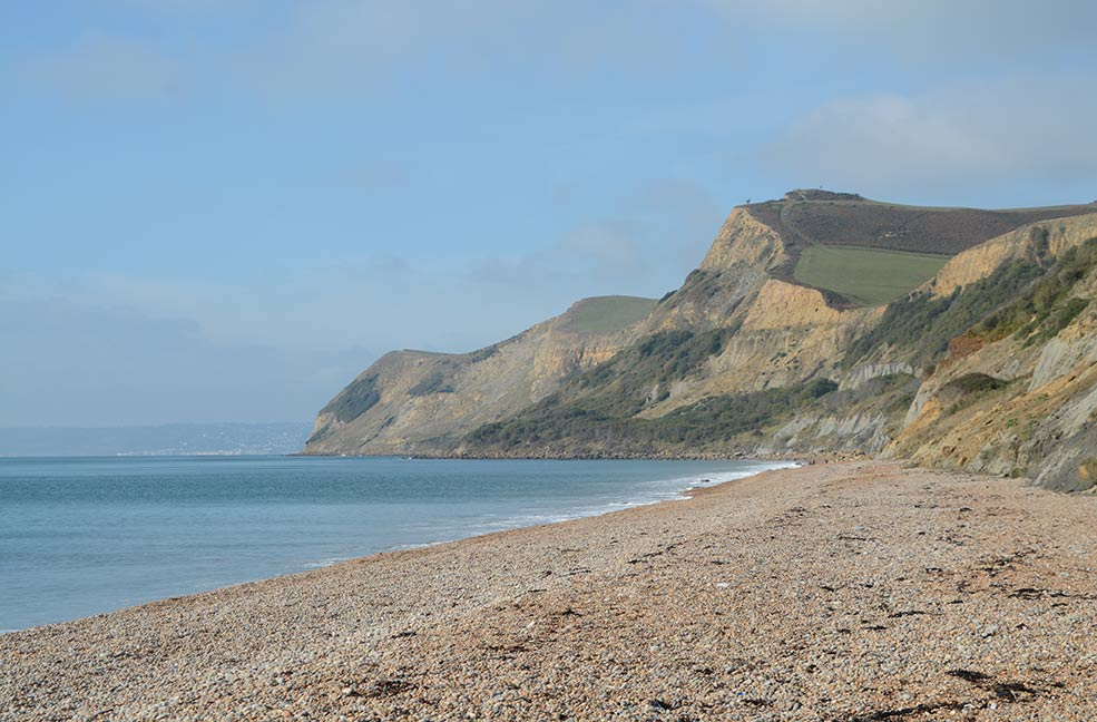 The Golden Cap is an iconic view along the coast from West Bay in Dorset.