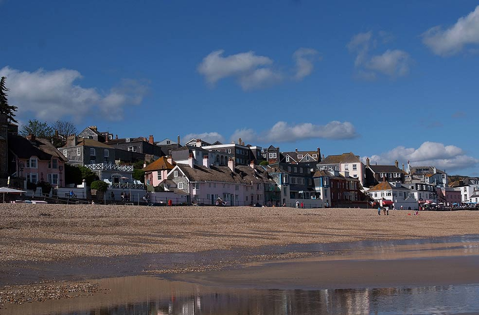 Lyme Regis is a pretty town on the border of Devon and Dorset.
