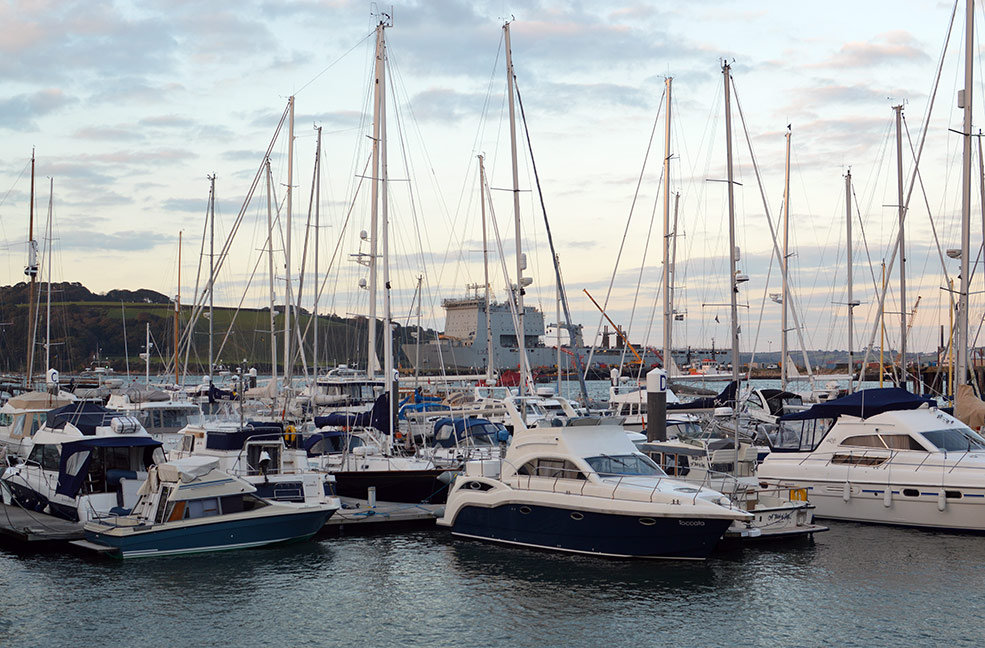 Boats are the backdrop to the lively festival week in Falmouth.