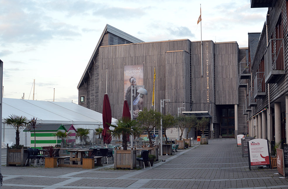 The main hub of Falmouth week is Events Square right in front of the National Maritime Museum.