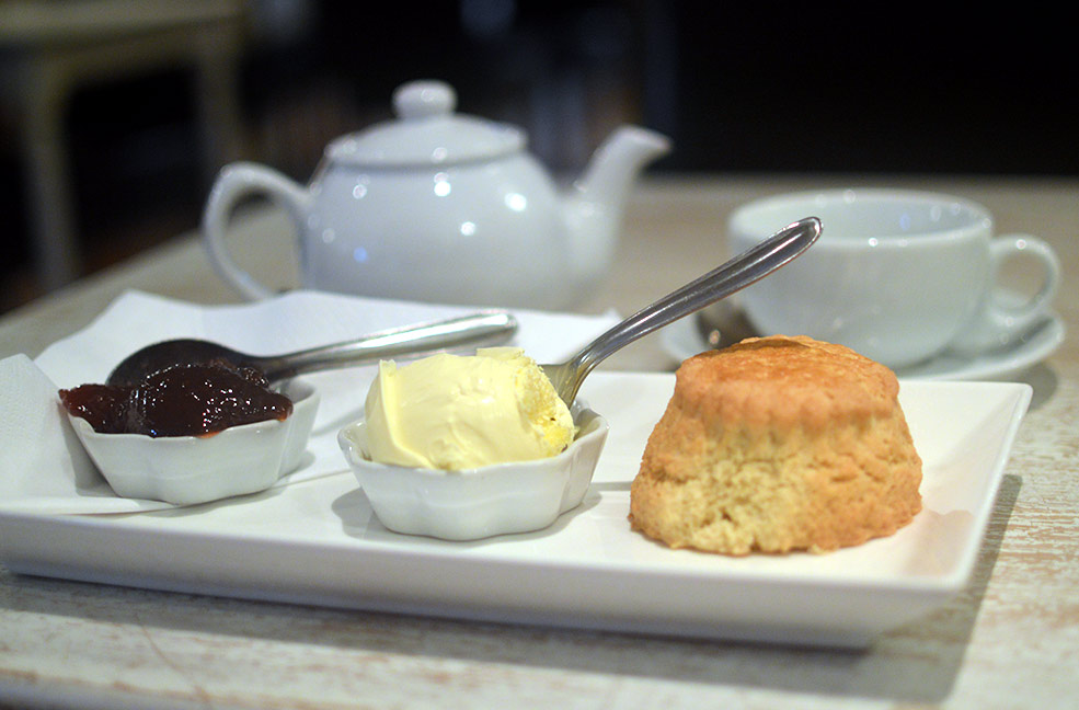 A tasty cream tea is the perfect way to while away the afternoon while on holiday.
