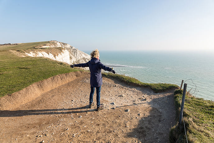 Fill your lungs with fresh air on a bracing coastal walk in East Sussex.