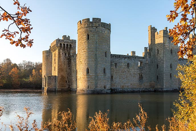 Bodiam Castle is an amazing historical location to explore.