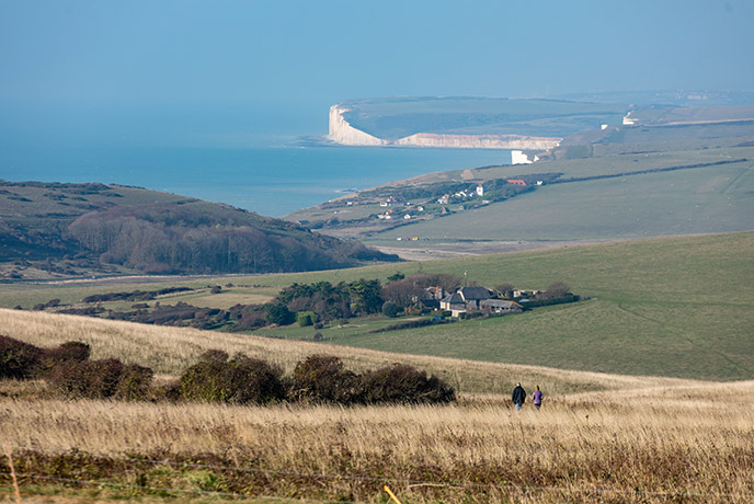 Beautiful rolling hills in the Garden of England: Sussex.