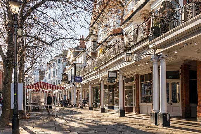 Discover the historic Pantiles of Royal Tunbridge Wells.