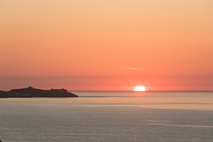 Stay all day and watch the sun set over the horizon to celebrate your first St Ives Feast day.
