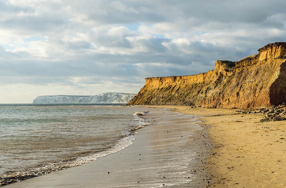 Freshwater Bay is also a great location for surfing on the Isle of Wight.