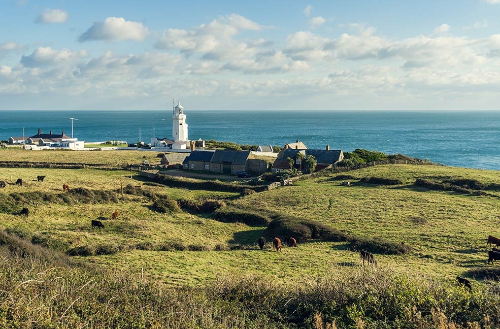 St Catherine's Point is the most southerly point on the Isle of Wight.