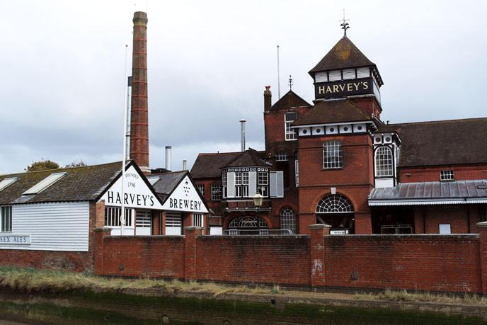 Harveys brewery is a real landmark in the town of Lewes, East Sussex.