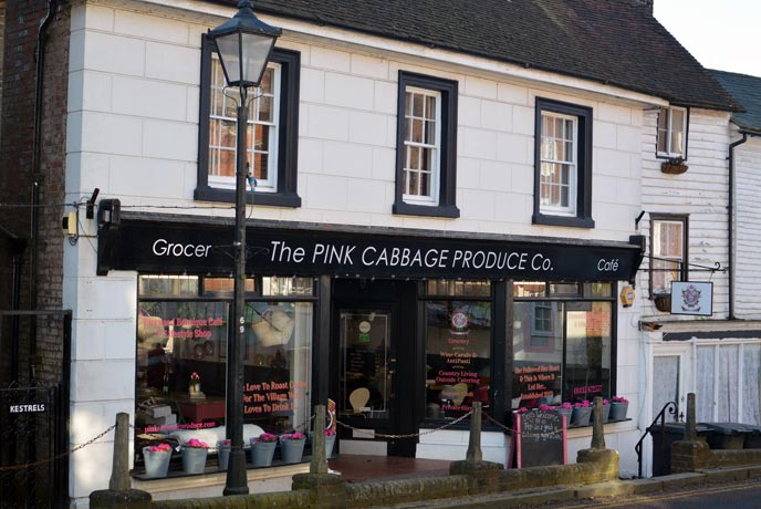 The Pink Cabbage is a pretty cafe in the heart of the village of Mayfield.