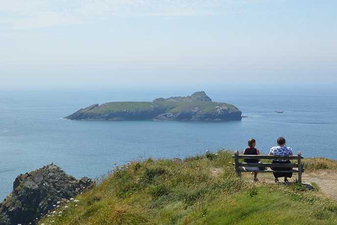 The view from the Mullion Cove Hotel.