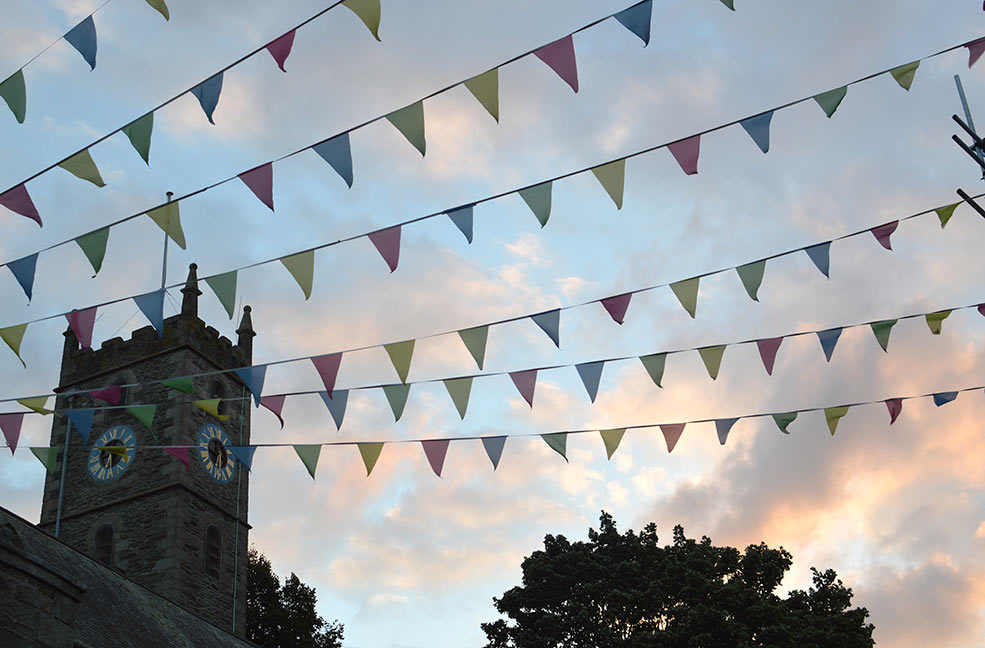 Flags in a Falmouth sunset