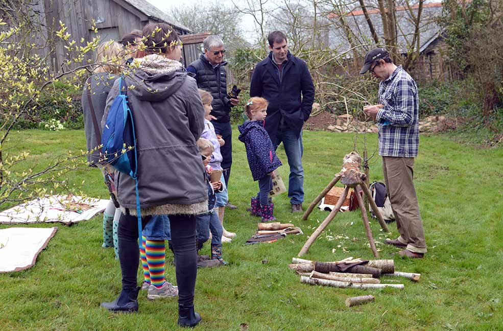 There were walks, demonstrations and workshops running throughout the day at the Nancarrow Farm spring gathering.