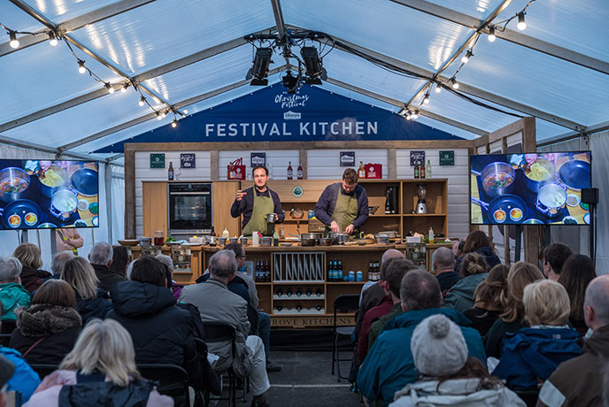 The Padstow Christmas festival kitchen plays host to some amazing chefs over the weekend.