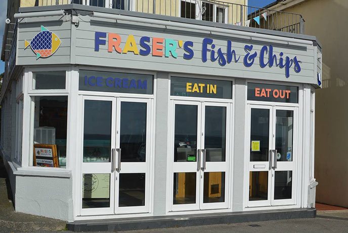Fraser's Fish and Chips in Penzance Cornwall