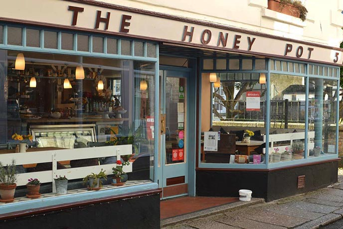 The Honey Pot cafe in Penzance Cornwall