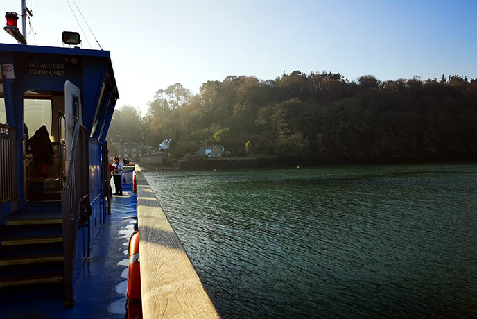 The picture perfect view from the King Harry ferry.