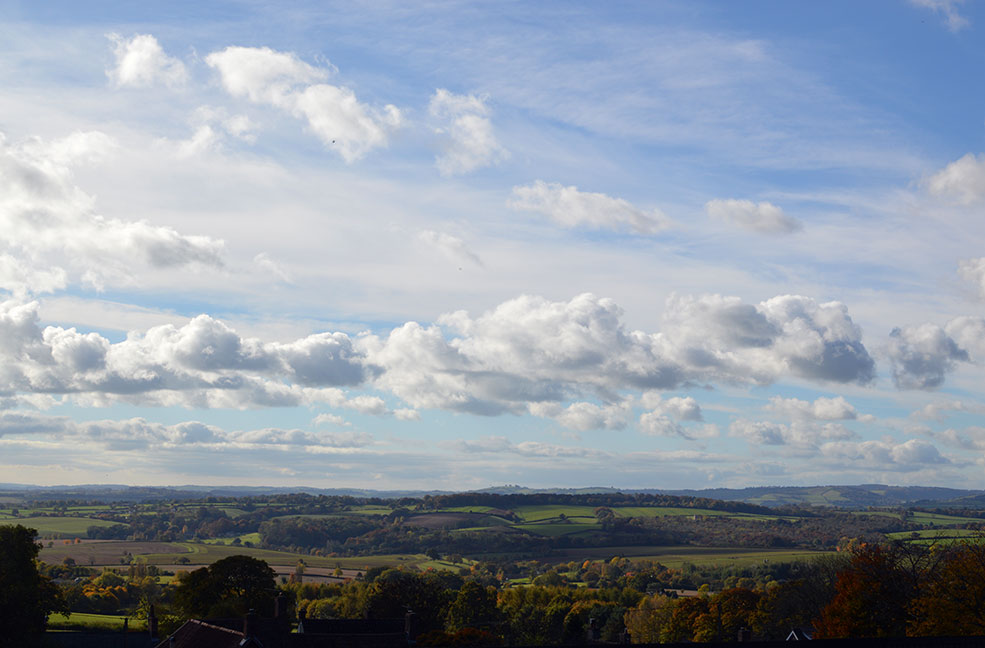 The stunning view from Bashford Lodge, a Classic Cottages property next door to Quantock Trekking.