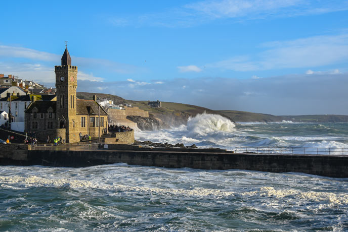Storm watching in Porthleven