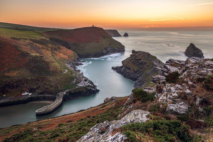 Boscastle sunset, Cornwall