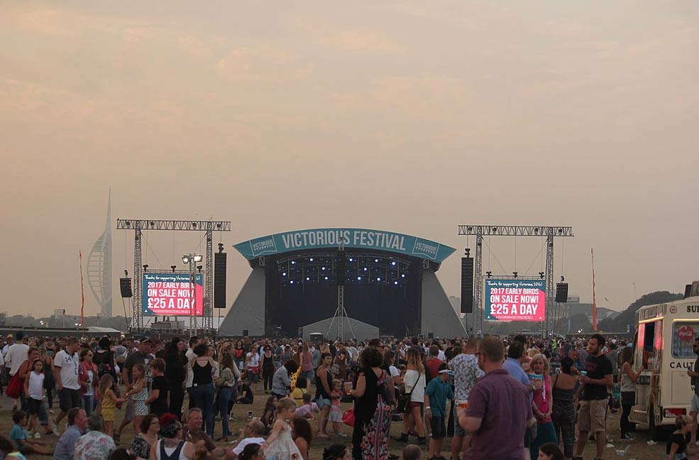 Victorious Festival is in Southsea Portsmouth every year for the August bank holiday.