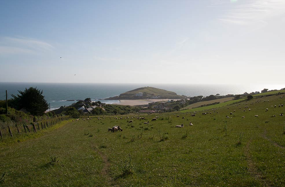 Burgh Island can be seen from many angles along the coast paths around Bigbury on Sea.