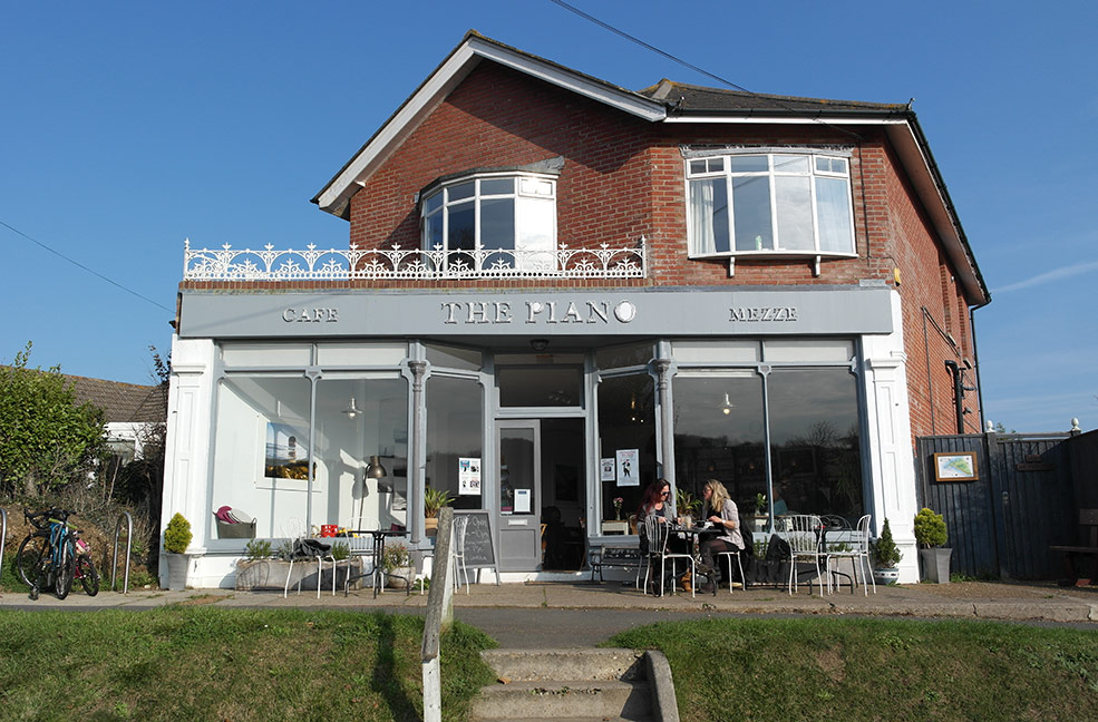 The Piano Cafe is a great place for lunch or dinner while visiting Freshwater.
