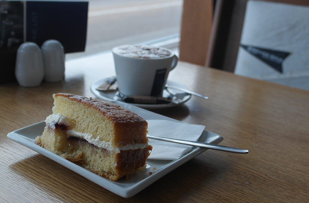 The perfect place for a coffee and a slice of cake in Seaview