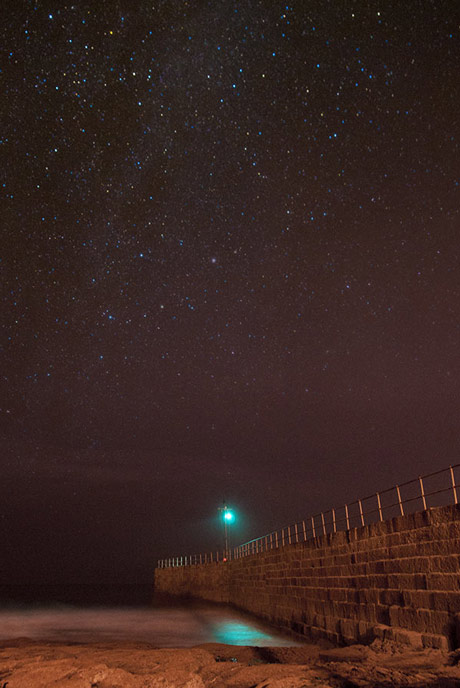 The night sky in Porthleven