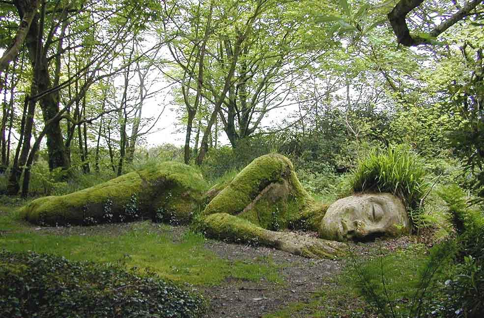 Can you find the iconic sleeping giant at Heligan gardens?