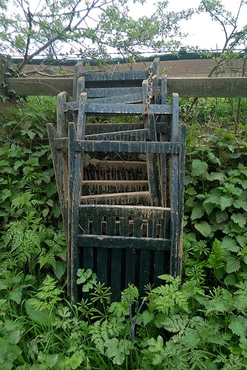 A random find - chairs chained to a fence in the middle of nowhere!