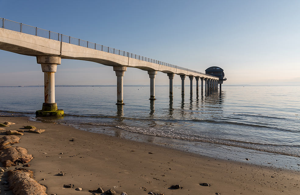 Not far from the Beach Hut Seafood Kitchen is the prominent lifeboat station just off the shore at Bembridge.