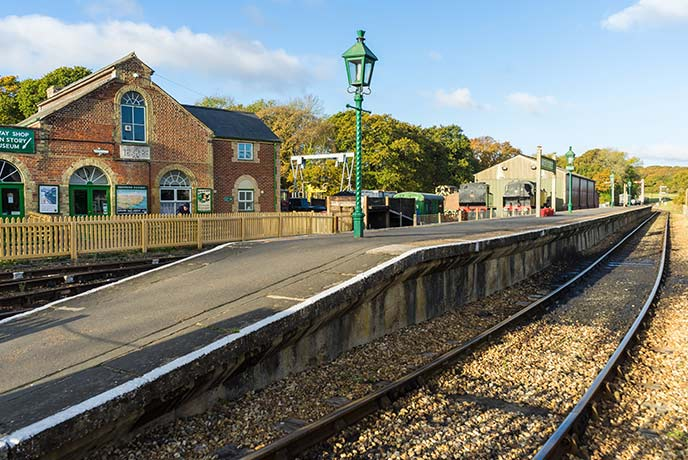 The Isle of Wight steam railway is a fun way to see the Isle of Wight countryside.