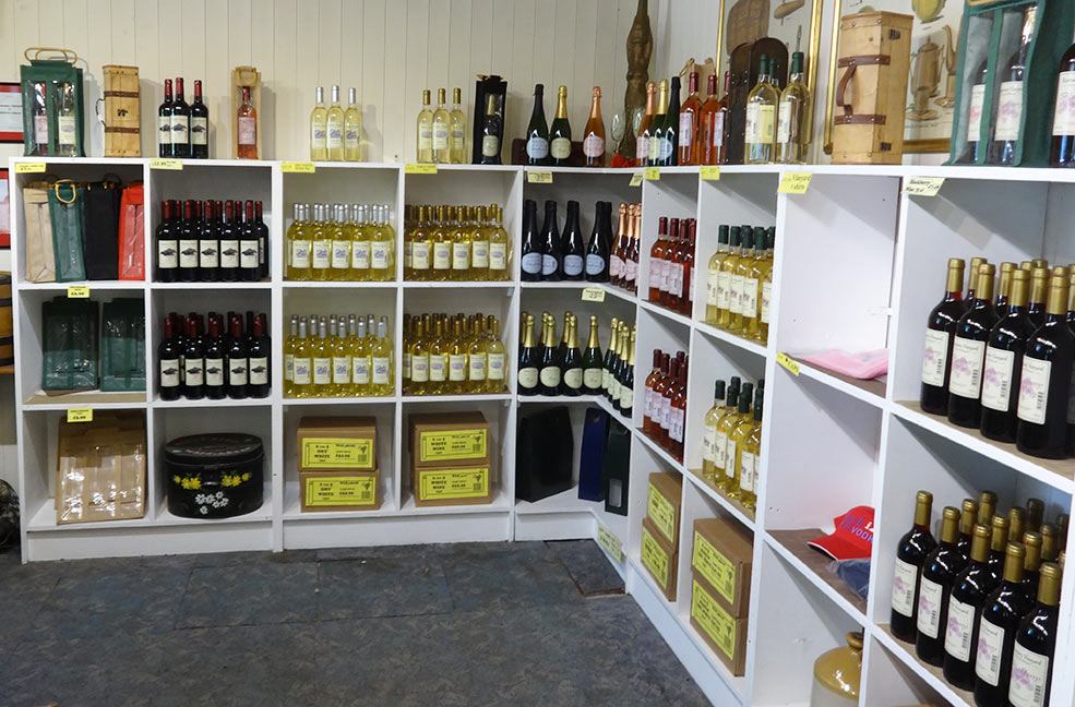 There's plenty of drinks to choose from at Rosemary Vineyard.