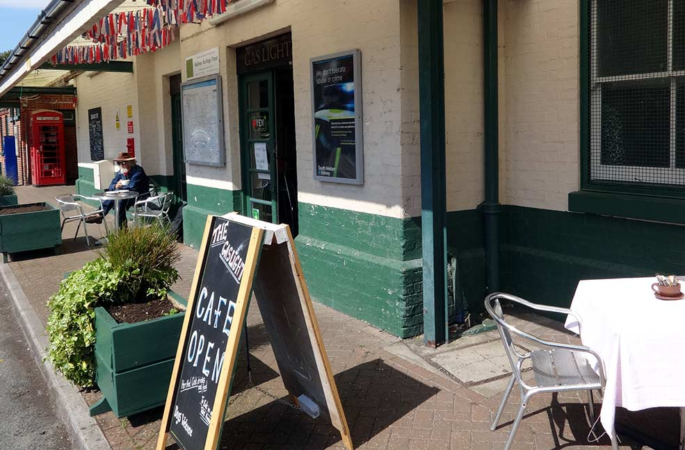The Gaslight Cafe in Sandown is tucked away inside what used to be the station waiting room.