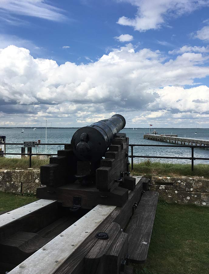 See the historic features of Fort Victoria near Yarmouth, Isle of Wight.